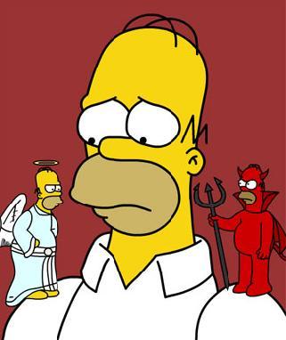 Homer ángel y demonio