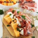 Versión de típico melón con jamón. ¡Brochetas para el verano!